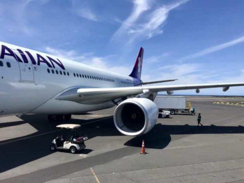 2018ハワイ ハワイ島 ハワイアン航空 コナ空港