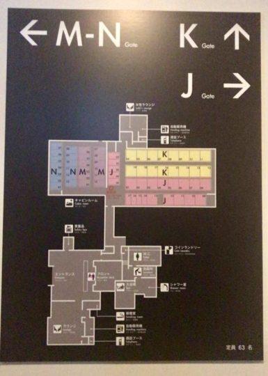 ファーストキャビン館内マップ