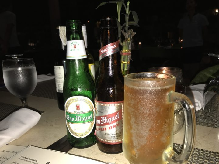 2017cebu_ボホール ベルビュー ディナー ビール