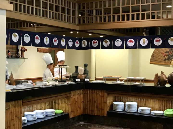 2018cebu_Jpark ランチブッフェ「Abalone」寿司コーナー