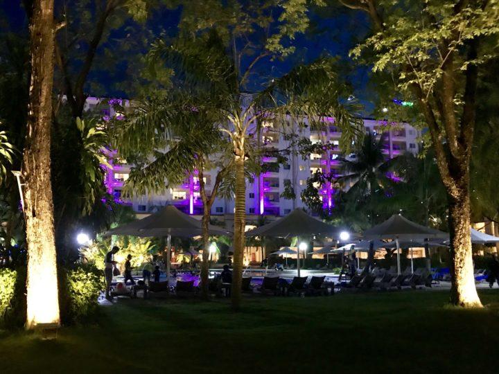 2018cebu_Jpark ホテル ライトアップ