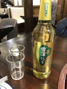 2018成都 寛窄巷子 四川料理店 雪花ビール