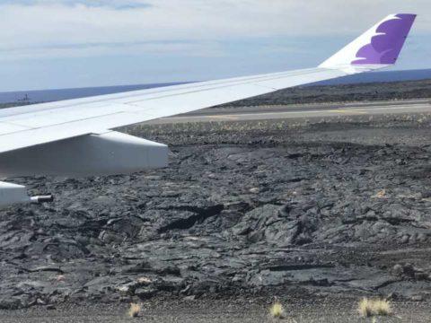 2018ハワイ ハワイ島 コナ空港 ハワイアン航空
