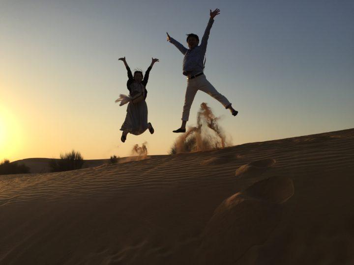 2017UAEドバイ 砂漠 ジャンプ