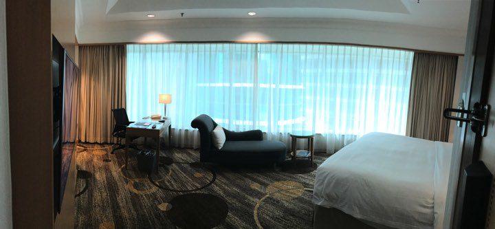 宿泊したプルマンホテルの全体の雰囲気