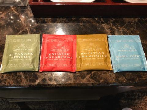 用意されていたHARNEY&SONSの紅茶は種類豊富でとても楽しめました