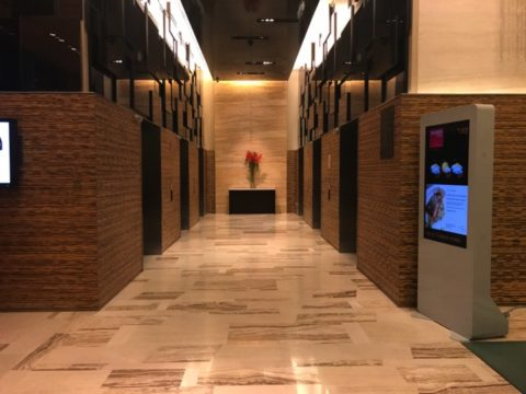 TradersHotel(トレイダーズホテル)のエレベーターエリア