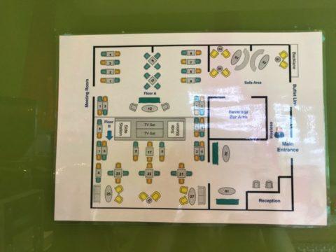 TradersHotel(トレイダーズホテル)のプレミアムラウンジフロアマップ