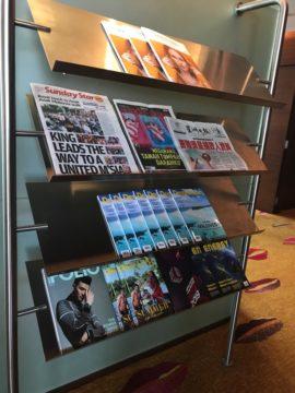 雑誌や新聞の用意もあります